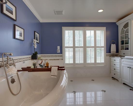 Bano azul blanco36 - Banos en azul y blanco ...