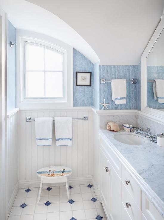 Bano azul blanco37 - Cuartos de bano blancos ...