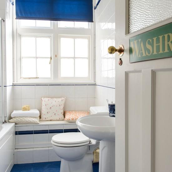 Bano azul blanco38 - Banos en azul y blanco ...