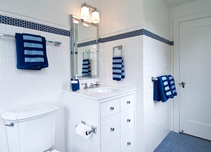 Bano azul blanco9 - Banos en blanco ...
