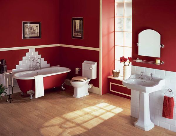 Azulejos Baño Gibeller:Red Bathroom Ideas