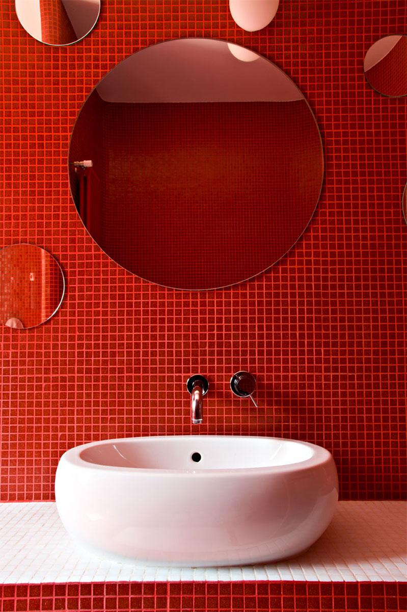Baños Blanco Con Rojo:blanco y rojo bano36