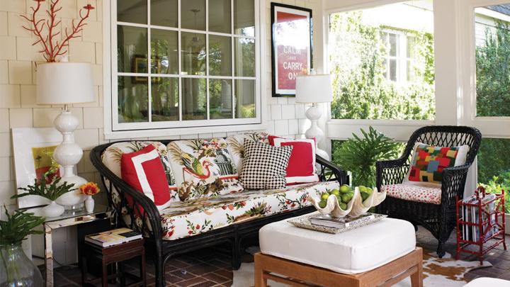 como decorar el porche