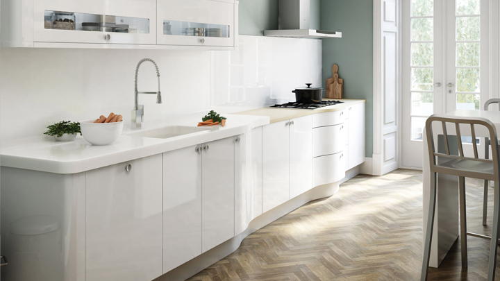 C mo decorar una cocina de blanco for Como decorar una cocina