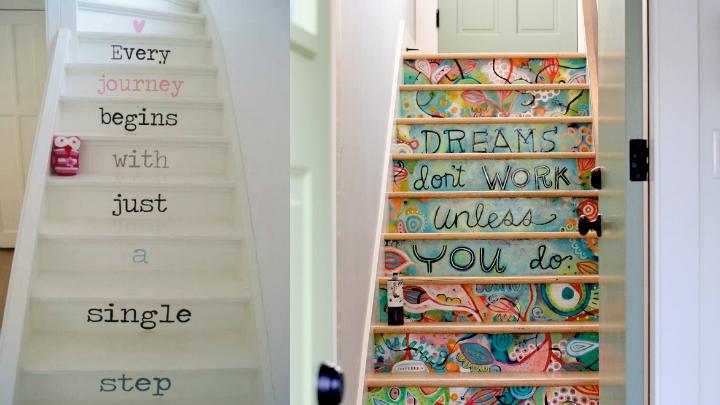 vinilos decorativos para subida de escalera Decorablog Revista De Decoracin