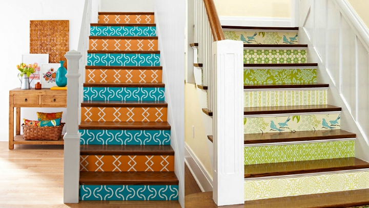 escaleras papel pintado