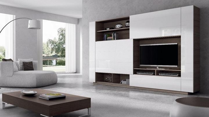 Muebles lacados de dise o - Muebles lacados en blanco brillo ...