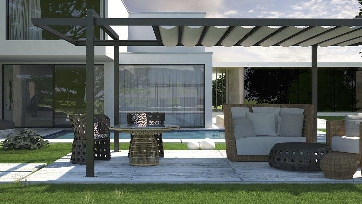 Decorablog revista de decoraci n for Pergolas metalicas jardin