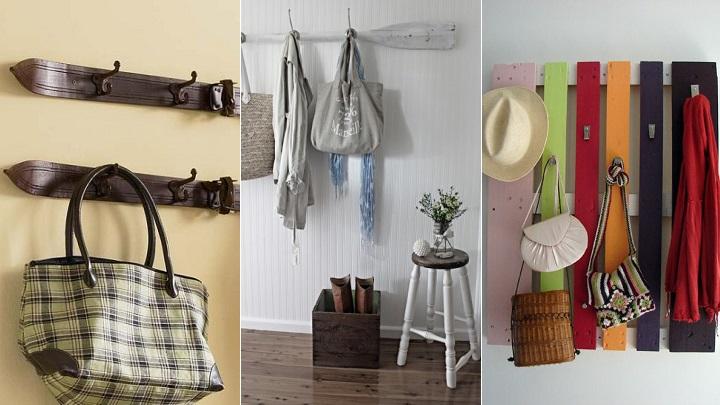 Ideas para decorar el recibidor con reciclaje - Perchero original pared ...
