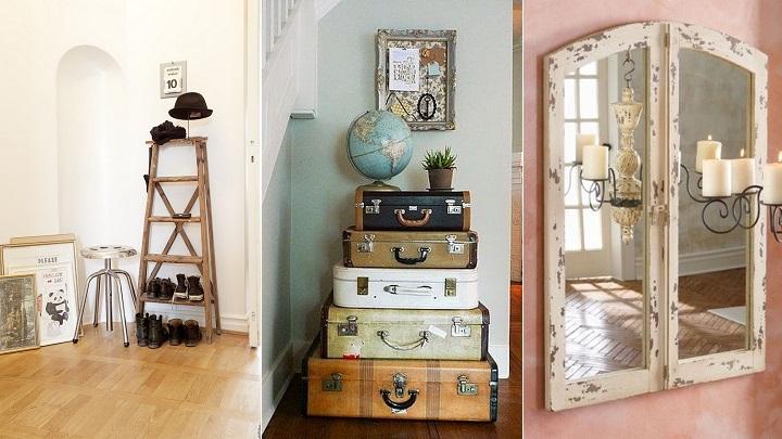 Ideas para decorar el recibidor con reciclaje - Sillas para recibidor ...