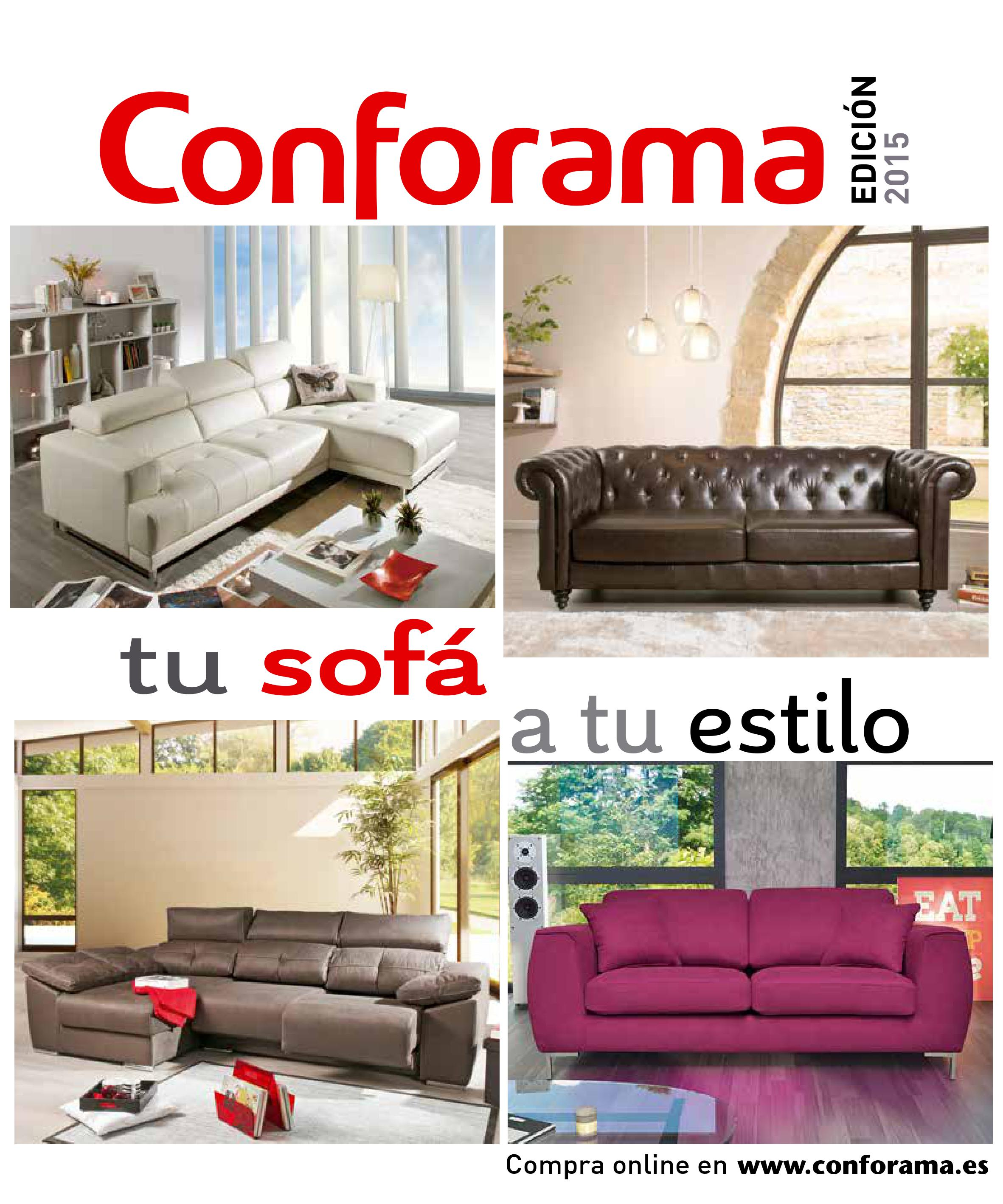 Sofas conforama 20151 for Sofas conforama catalogo