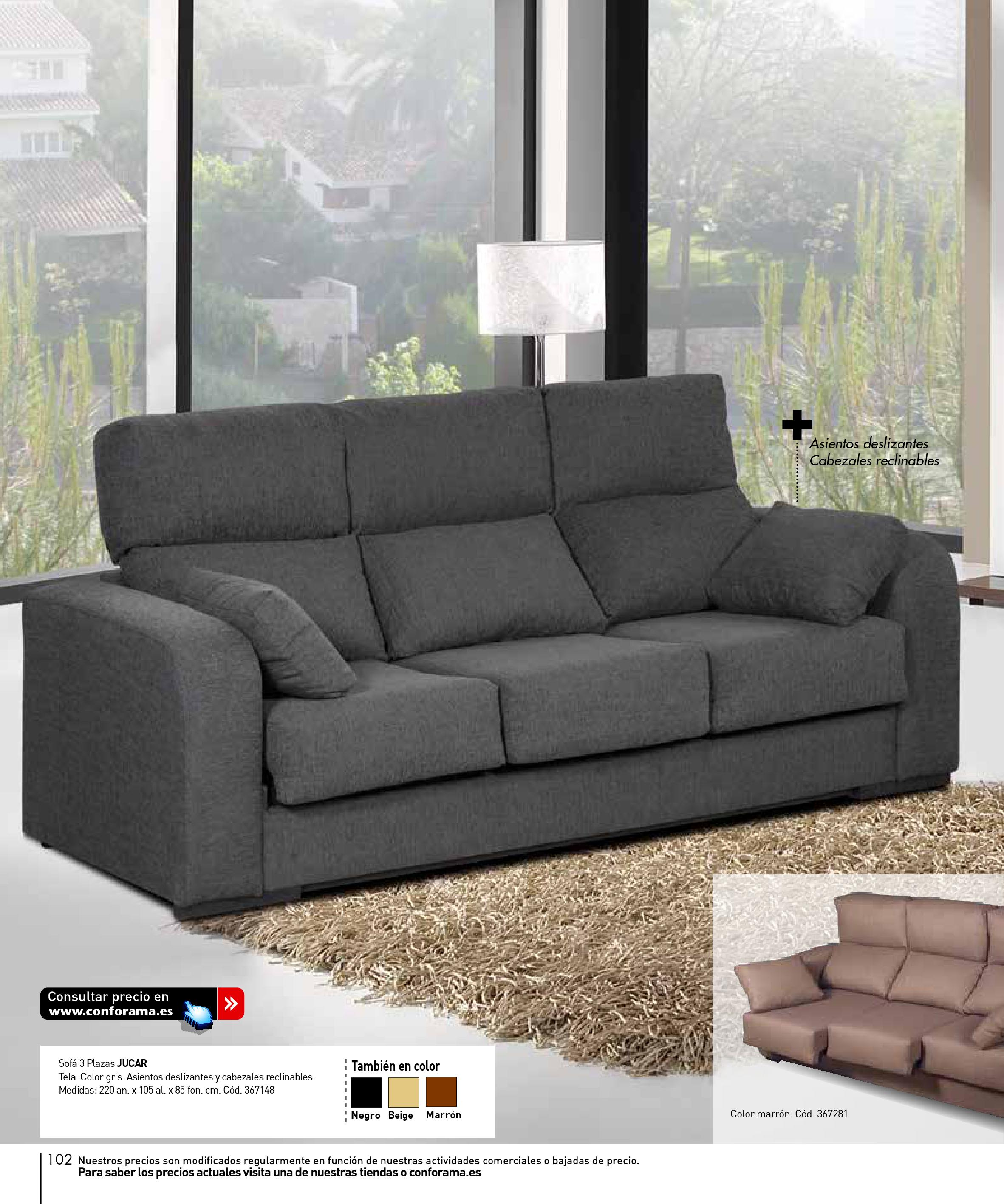 Sofas dos plazas conforama beautiful sofa dos plazas mies for Sofas 4 plazas conforama