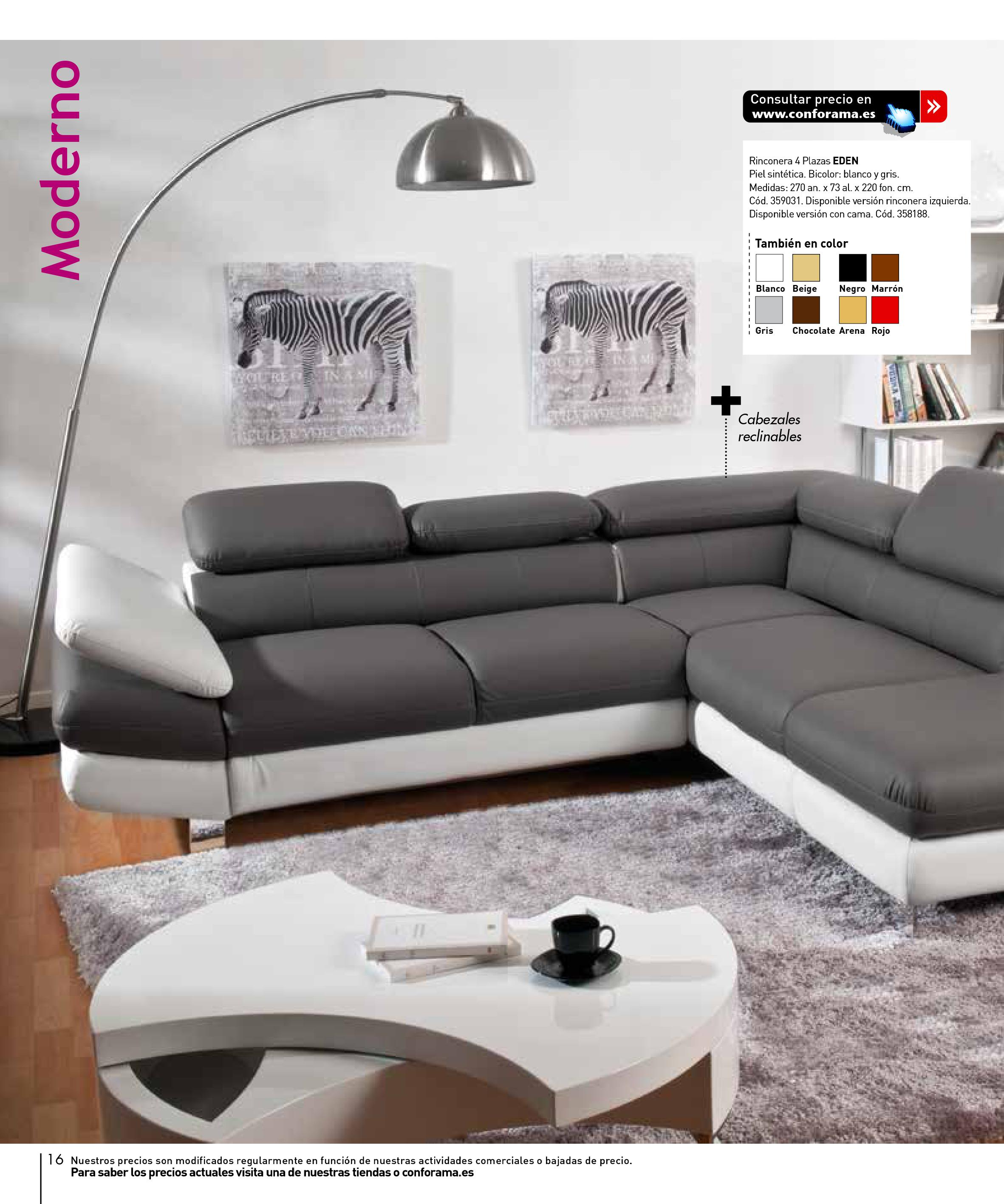 Sofas conforama 201516 for Sofas conforama catalogo