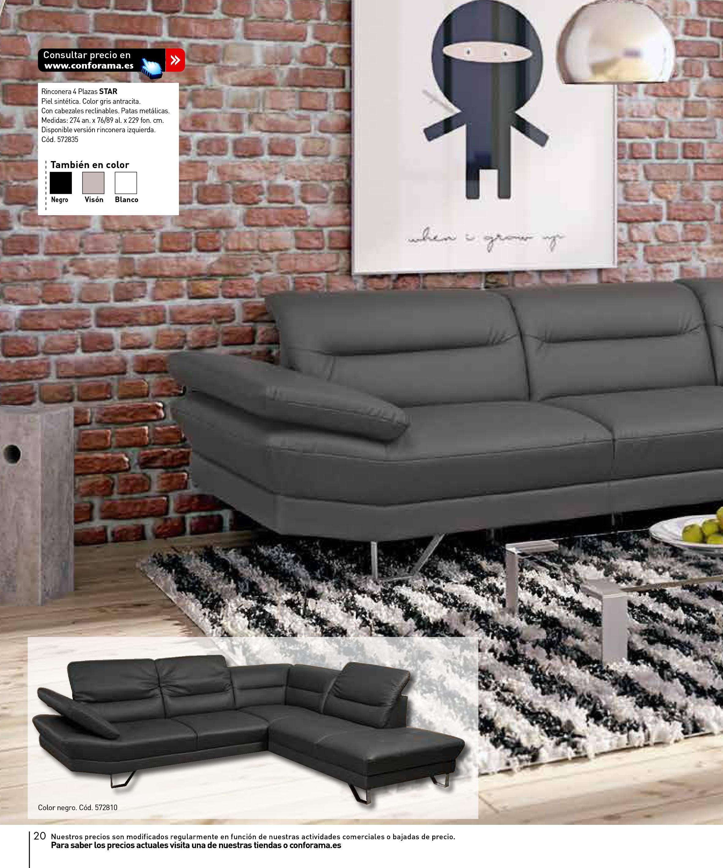Sofas conforama 201520 for Sofas conforama catalogo