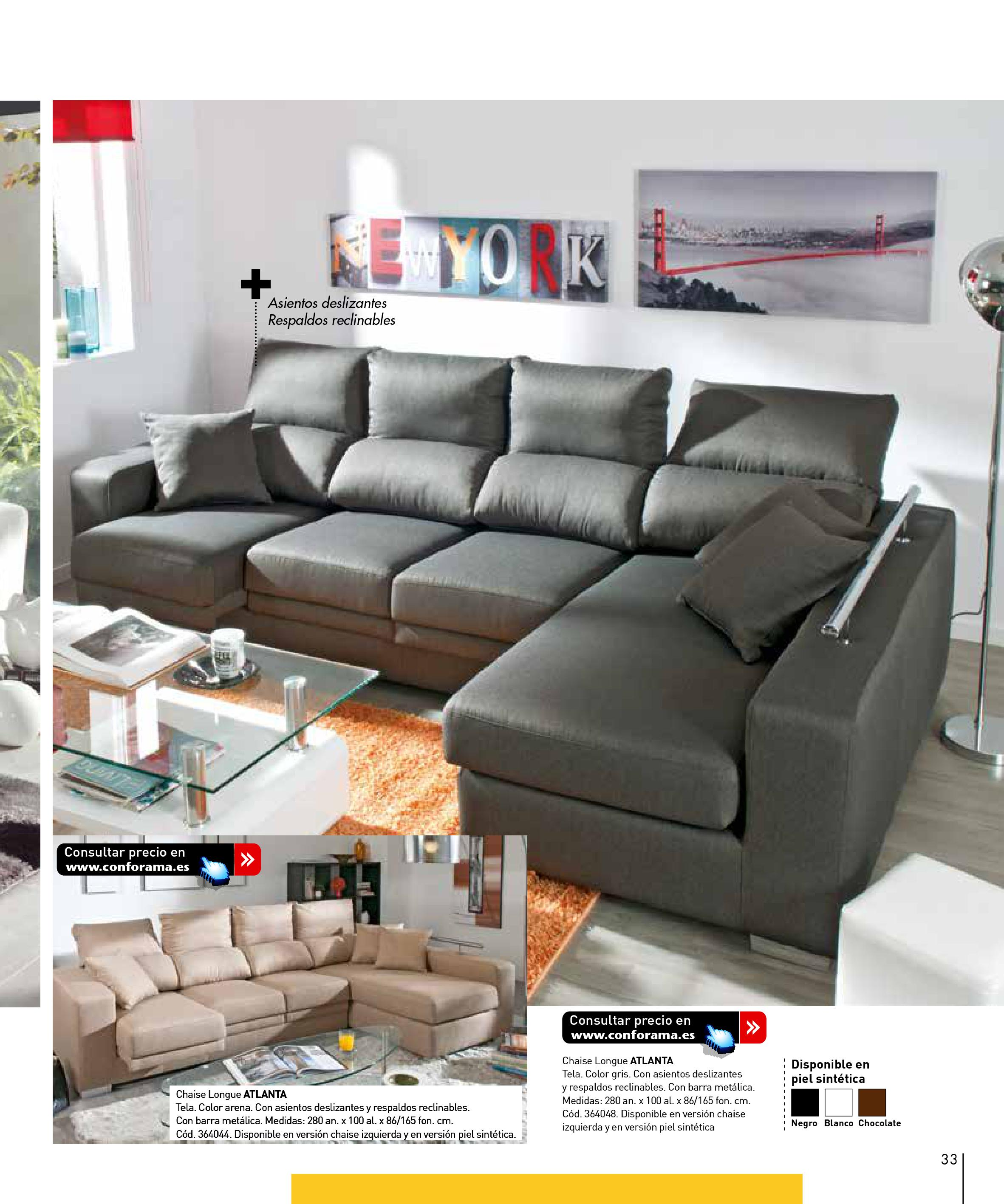 Sofas conforama 201533 for Sofas conforama catalogo