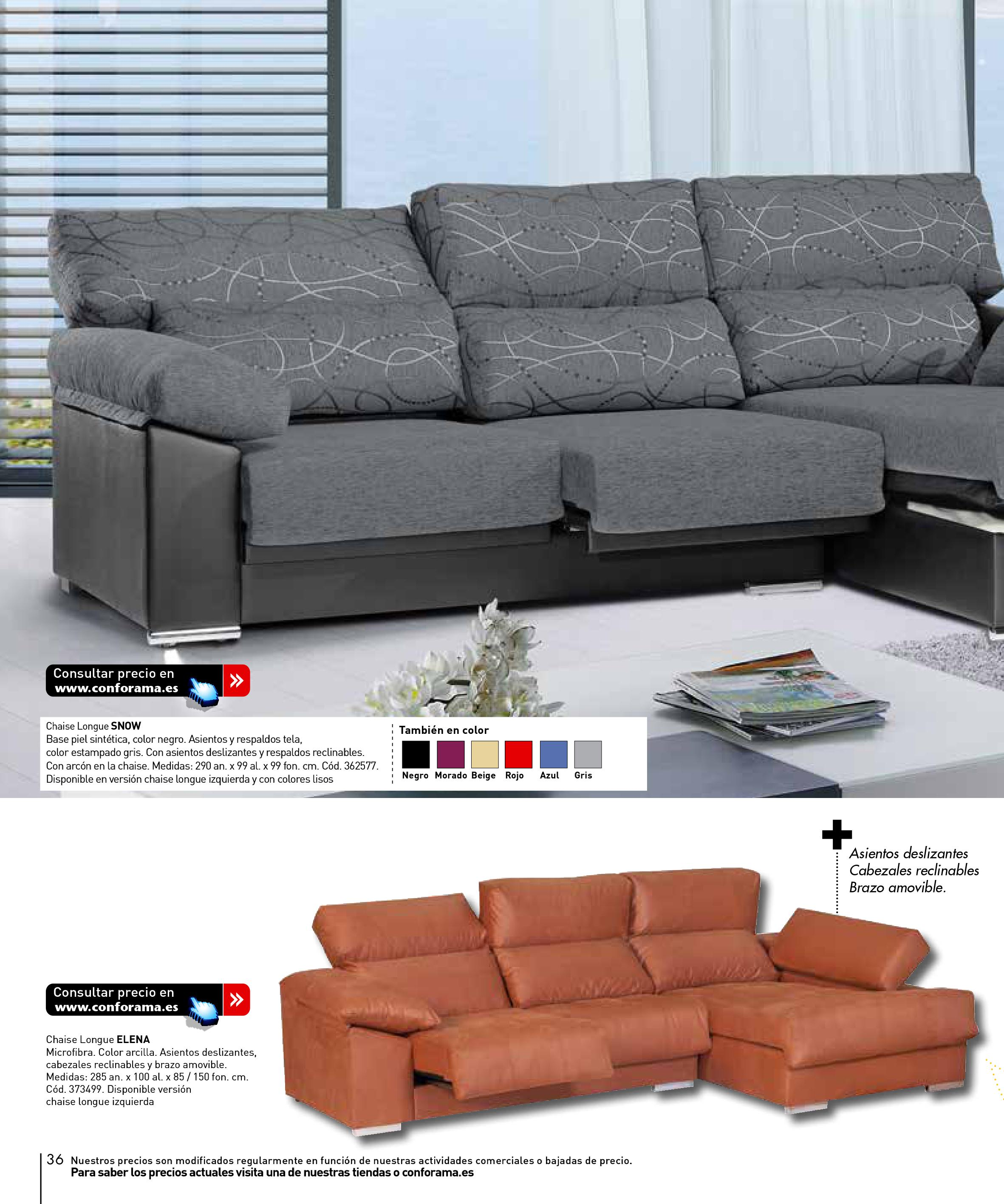 Sofas conforama 201536 for Sofas conforama catalogo