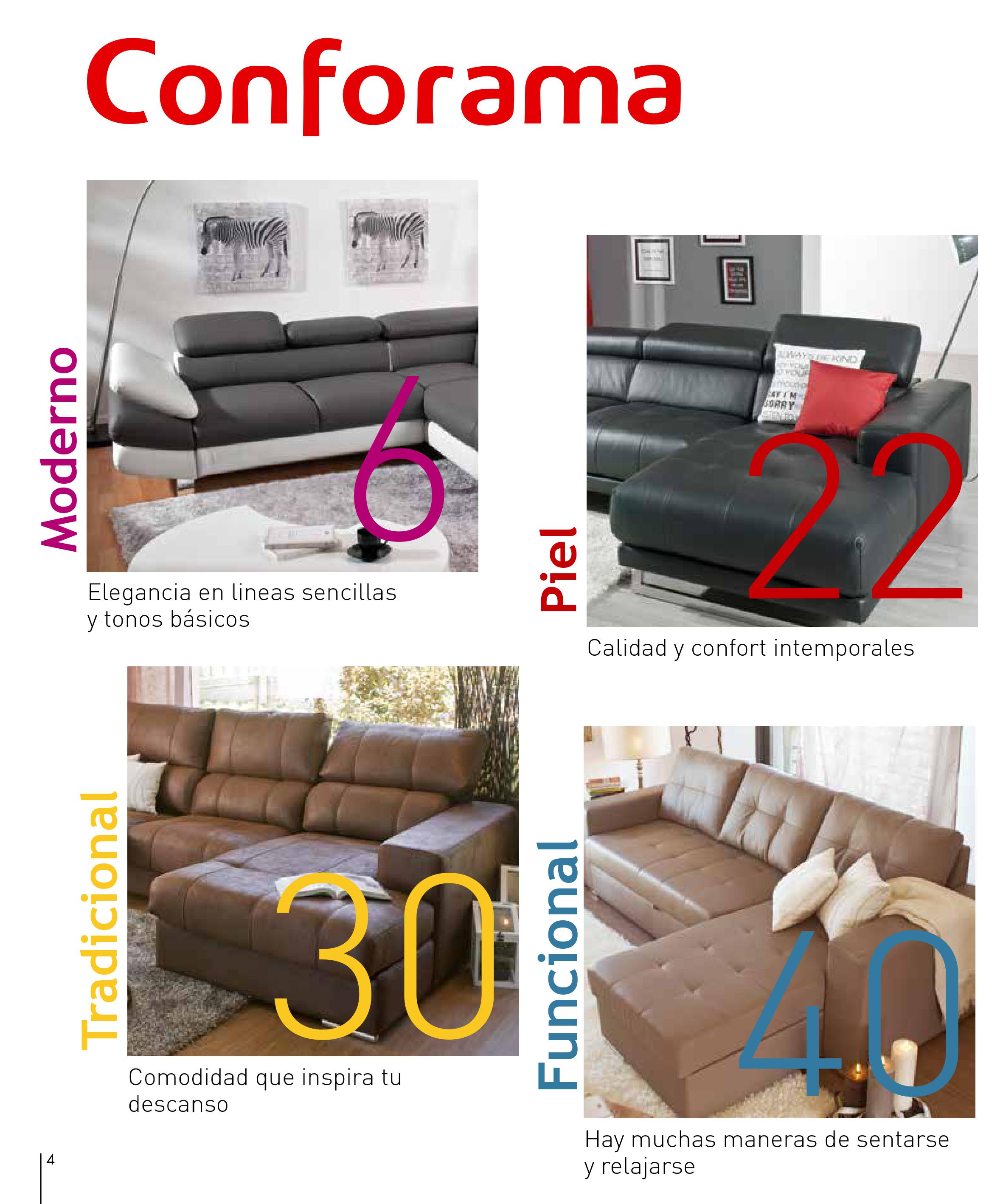 Sofas conforama 20154 for Sofas conforama catalogo