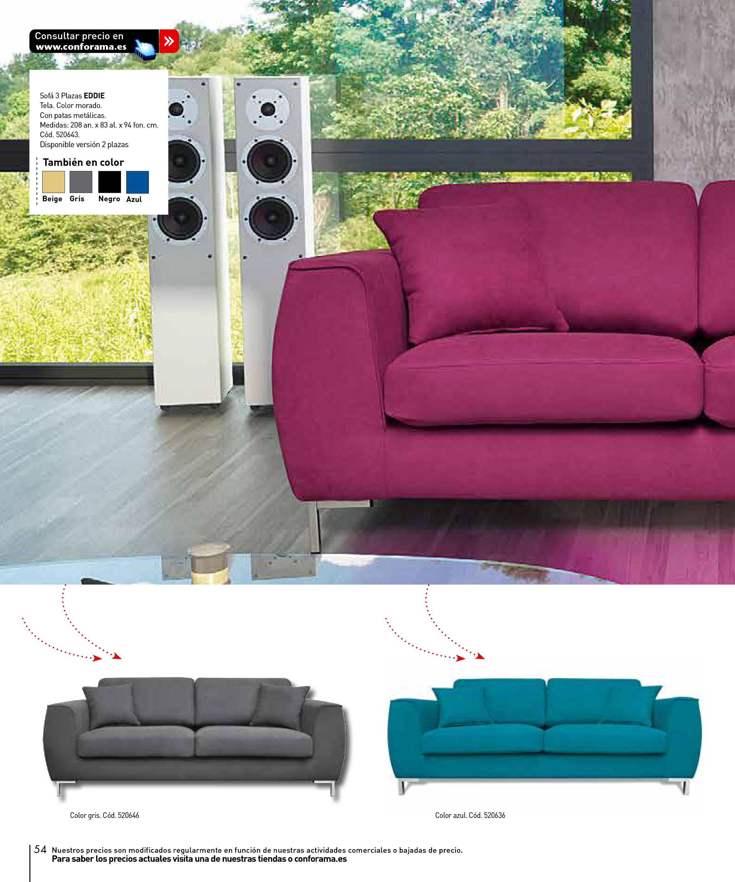 Sofas conforama 201554 for Sofas conforama catalogo