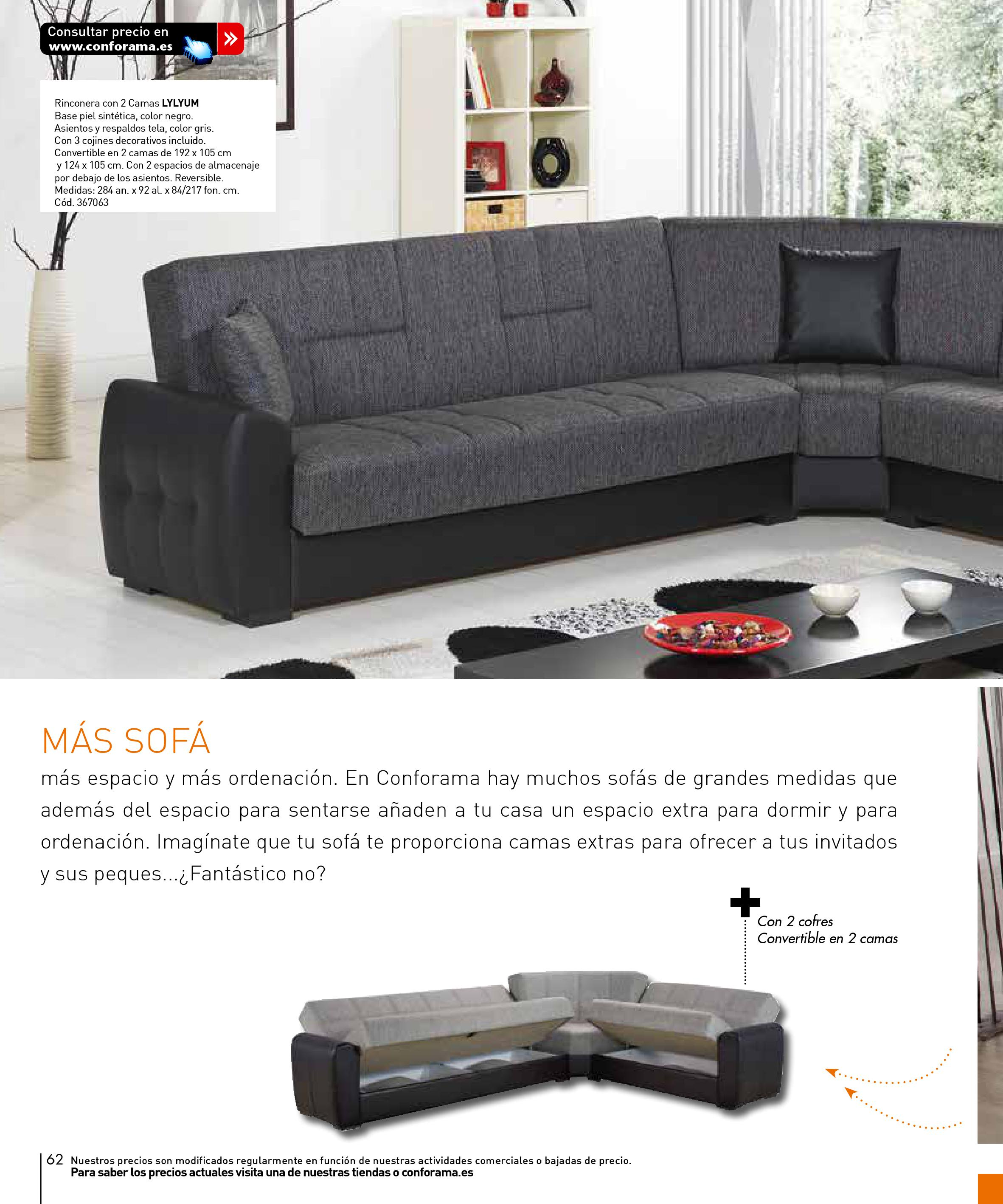 Sofas conforama 201562 for Sofas conforama catalogo