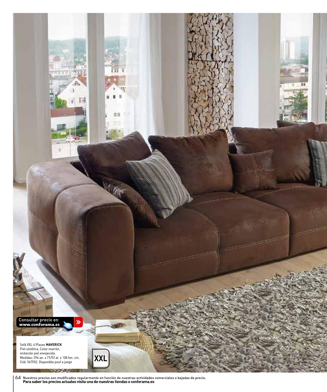 Teir sofa de piel finest free european white wood bottom for Sofa xxl conforama