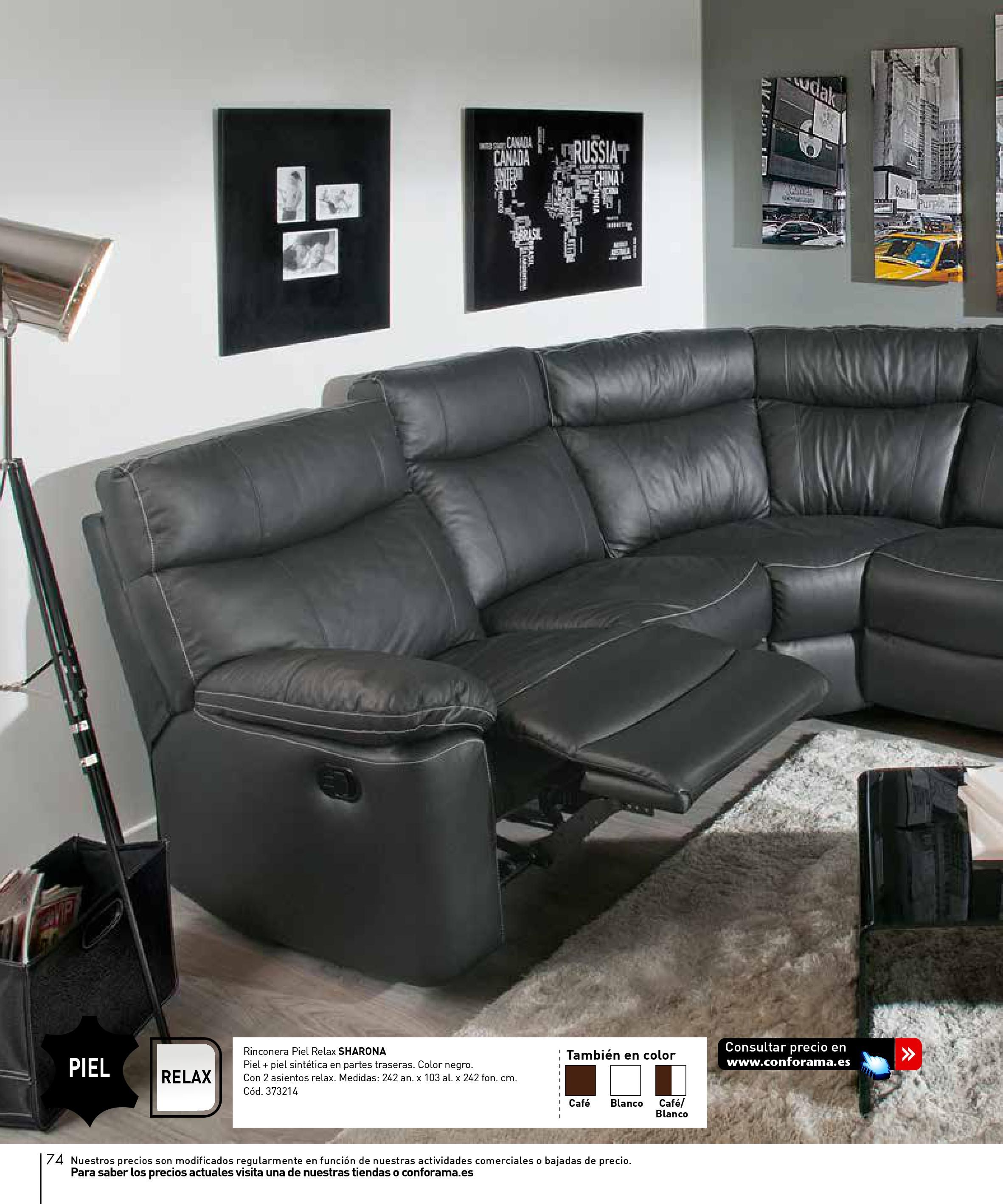 Sofas conforama 201574 for Catalogo de sofas de piel