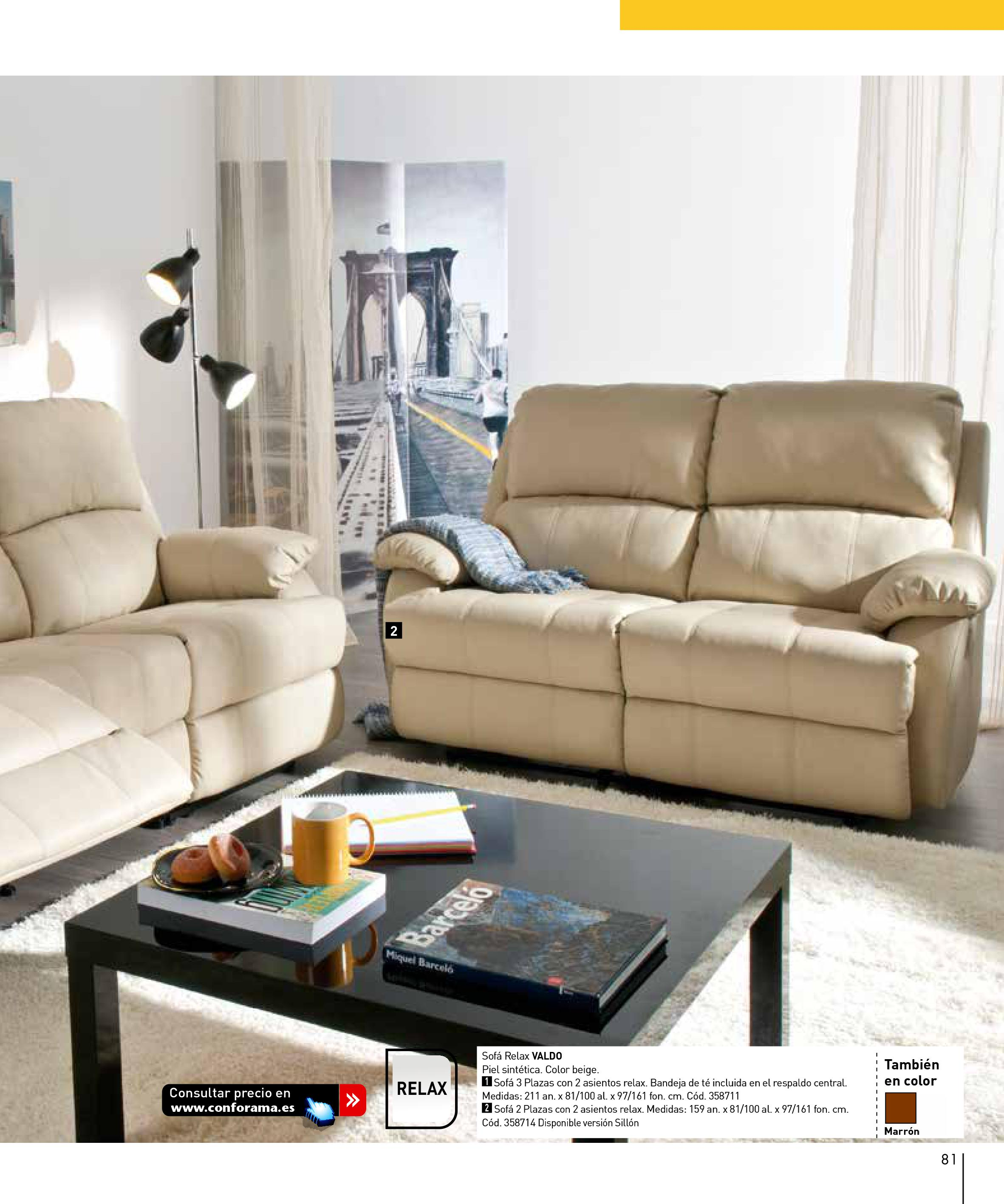 Sofas conforama 201581 for Sofas conforama catalogo