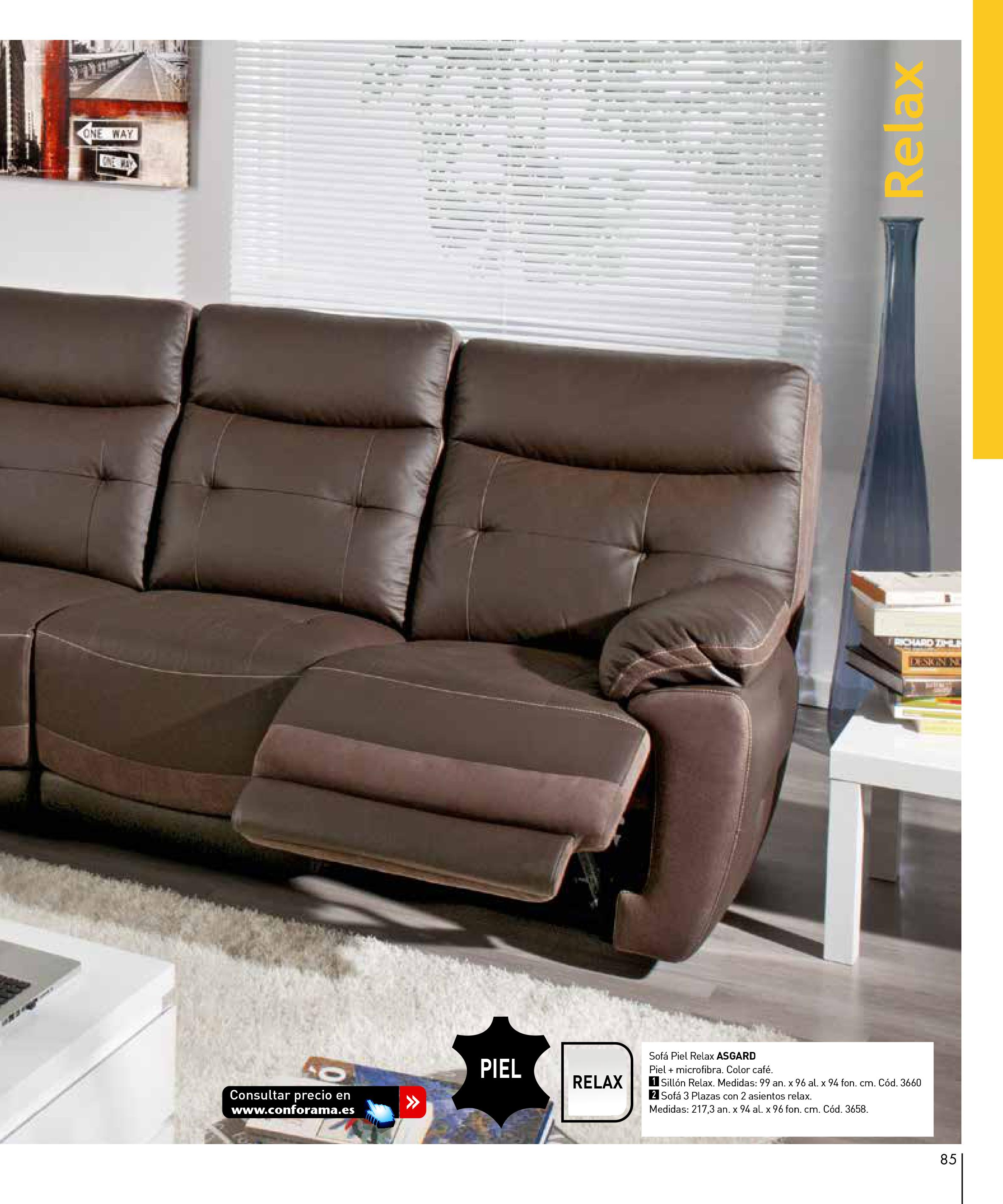 Sofas conforama 201585 for Sofas conforama catalogo