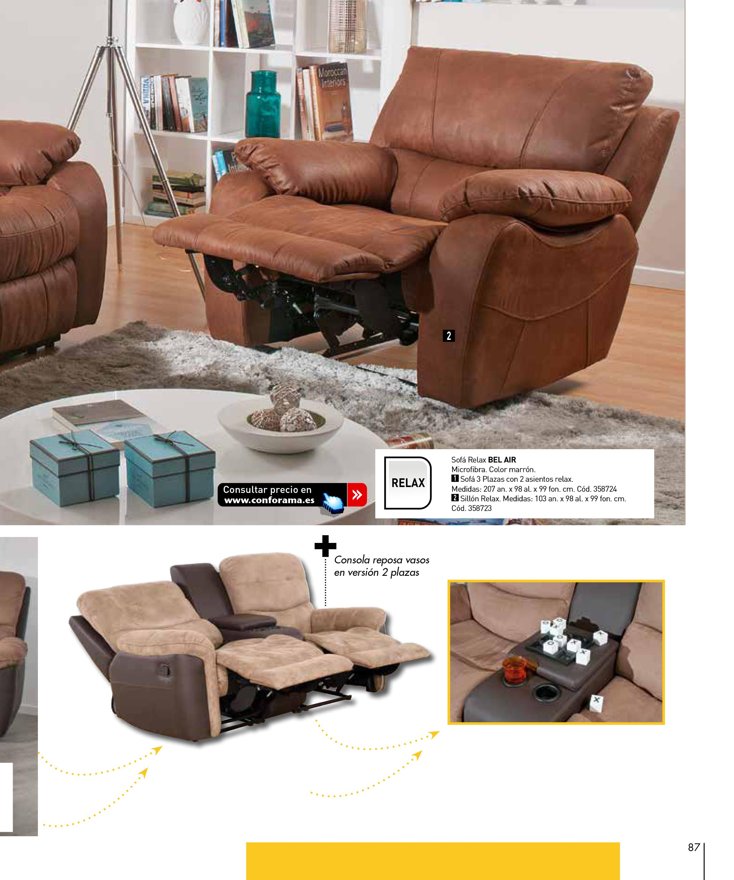 Sofas conforama 201587 for Sofas conforama catalogo