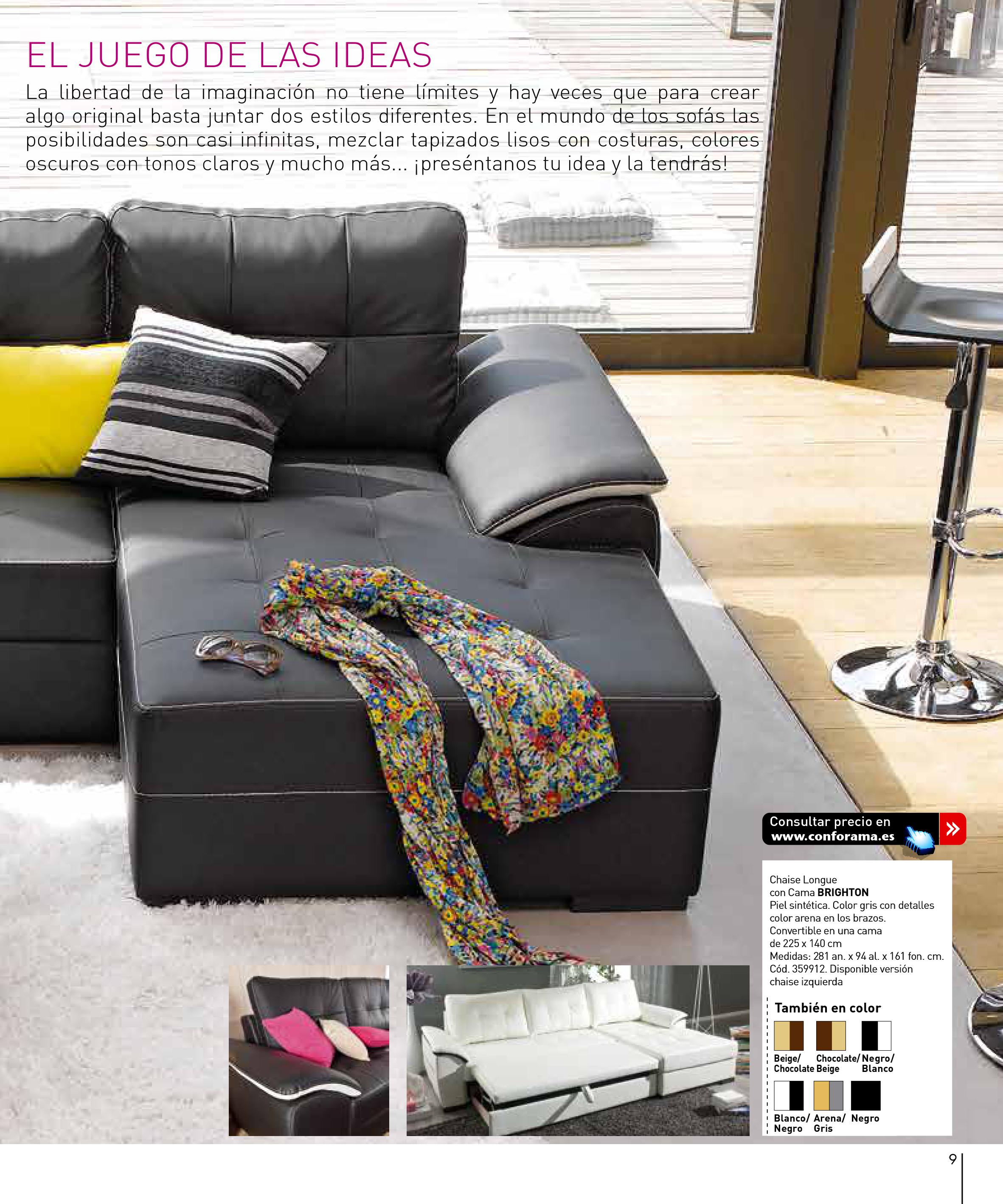 Sofas conforama 20159 for Sofas conforama catalogo