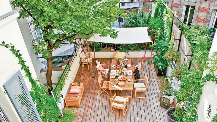 Fotos de terrazas decoradas - Como decorar una terraza grande ...