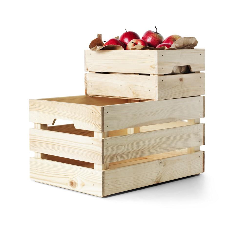 Avance del cat logo ikea 2016 - Caja de frutas de madera ...