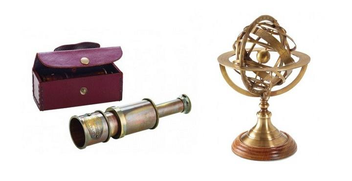 catalejo y astrolabio