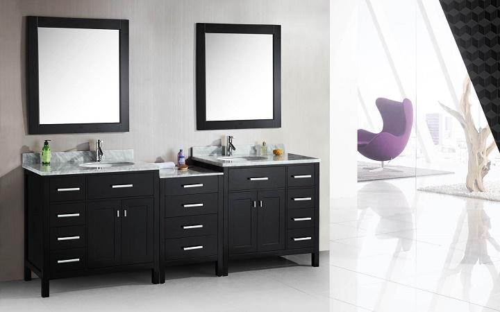lavabo para dos personas con espejos separados