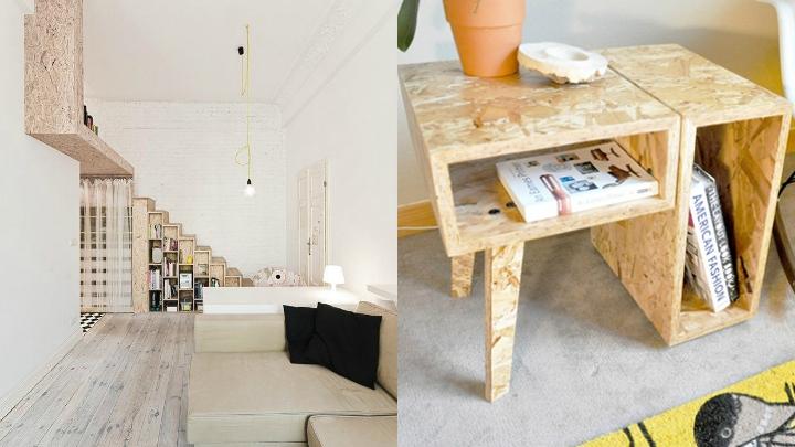 C mo decorar con tableros osb for Aplicaciones de decoracion de interiores