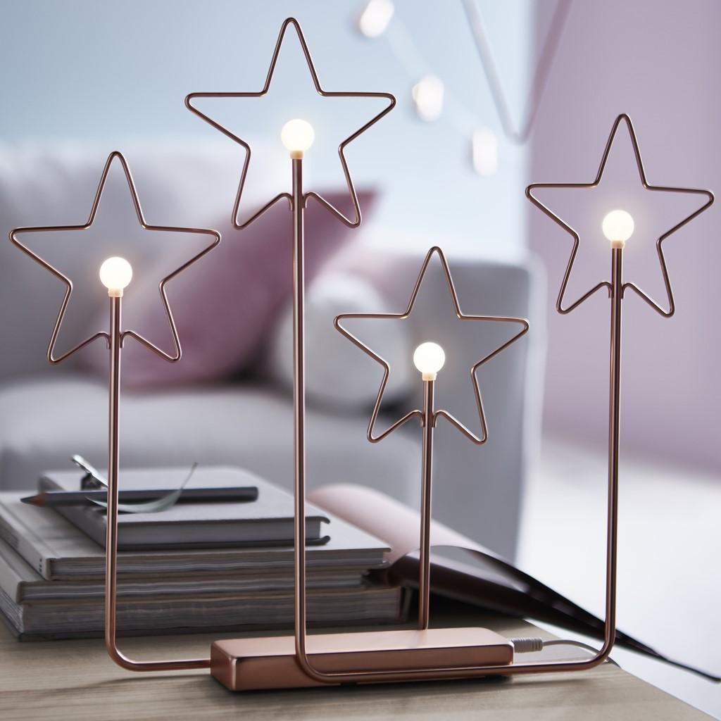 IKEA adorno estrellas acero plastico y bronce