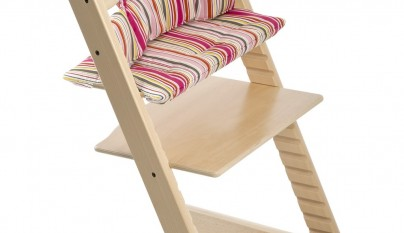 Tripp Trapp® with Candy Stripe cushion.