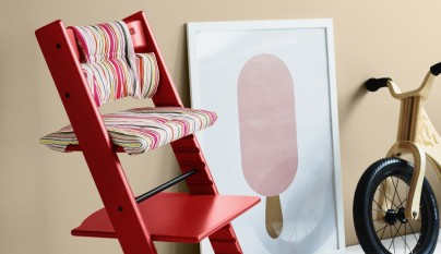 Tripp Trapp® Red with Candy Stripe cushion