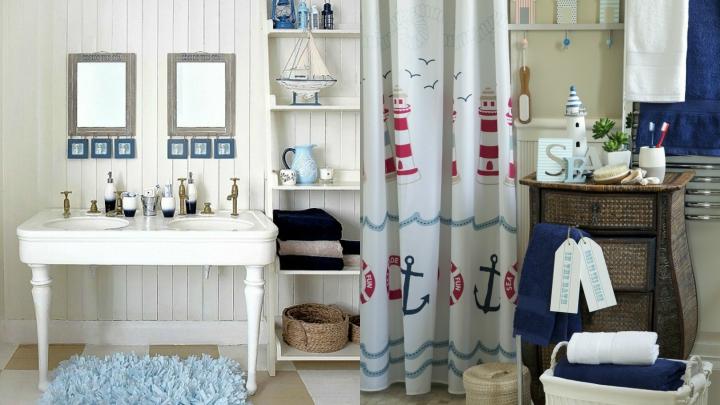 Ba os con estilo marinero for Muebles de bano con estilo