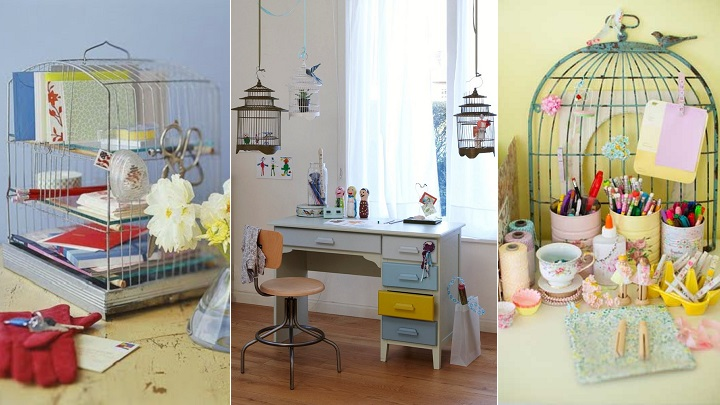 Objetos reciclados para decorar el escritorio for Casa practica decoracion