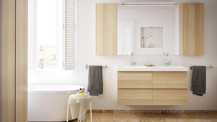 Espejos de ba o de ikea for Muebles altos de bano