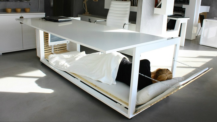 Escritorio que se convierte en cama for Mueble que se convierte en cama