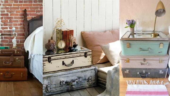 Ideas para decorar con las mesitas de noche - Decorar baul vintage ...