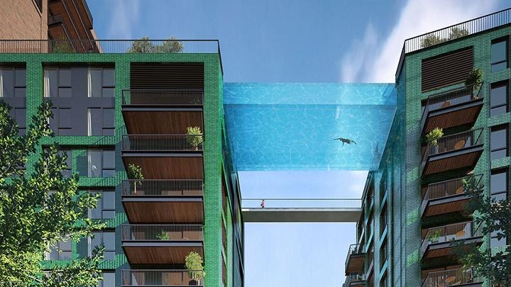 piscina flotante Londres 1