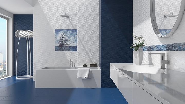 Decorablog revista de decoraci n for Banos azules y grises