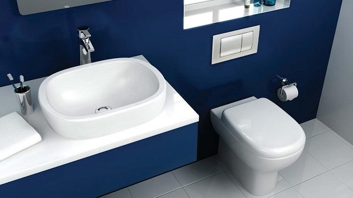Fotos de baños de color azul