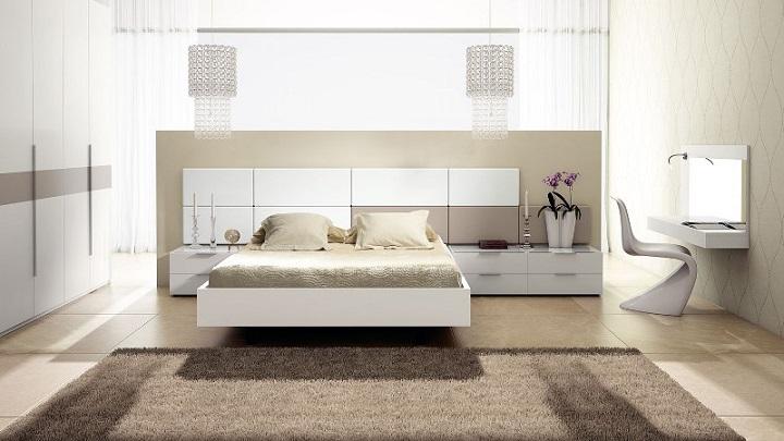 beige dormitorio moderno