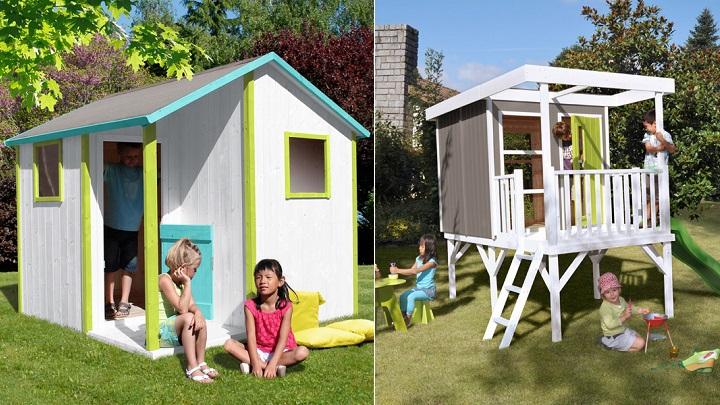 Casitas de madera para ni os for Casas de jardin infantiles