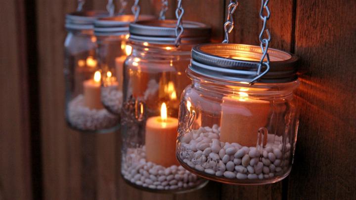 manualidades para decorar tus tarros de cristal