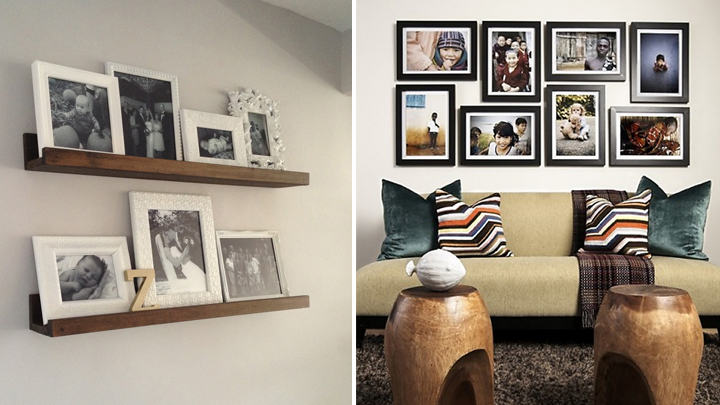 Decorar con cuadros y marcos de fotos - Decoracion con cuadros grandes ...