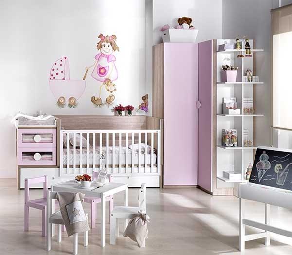 Decorablog revista de decoraci n - Habitacion de bebe nina ...